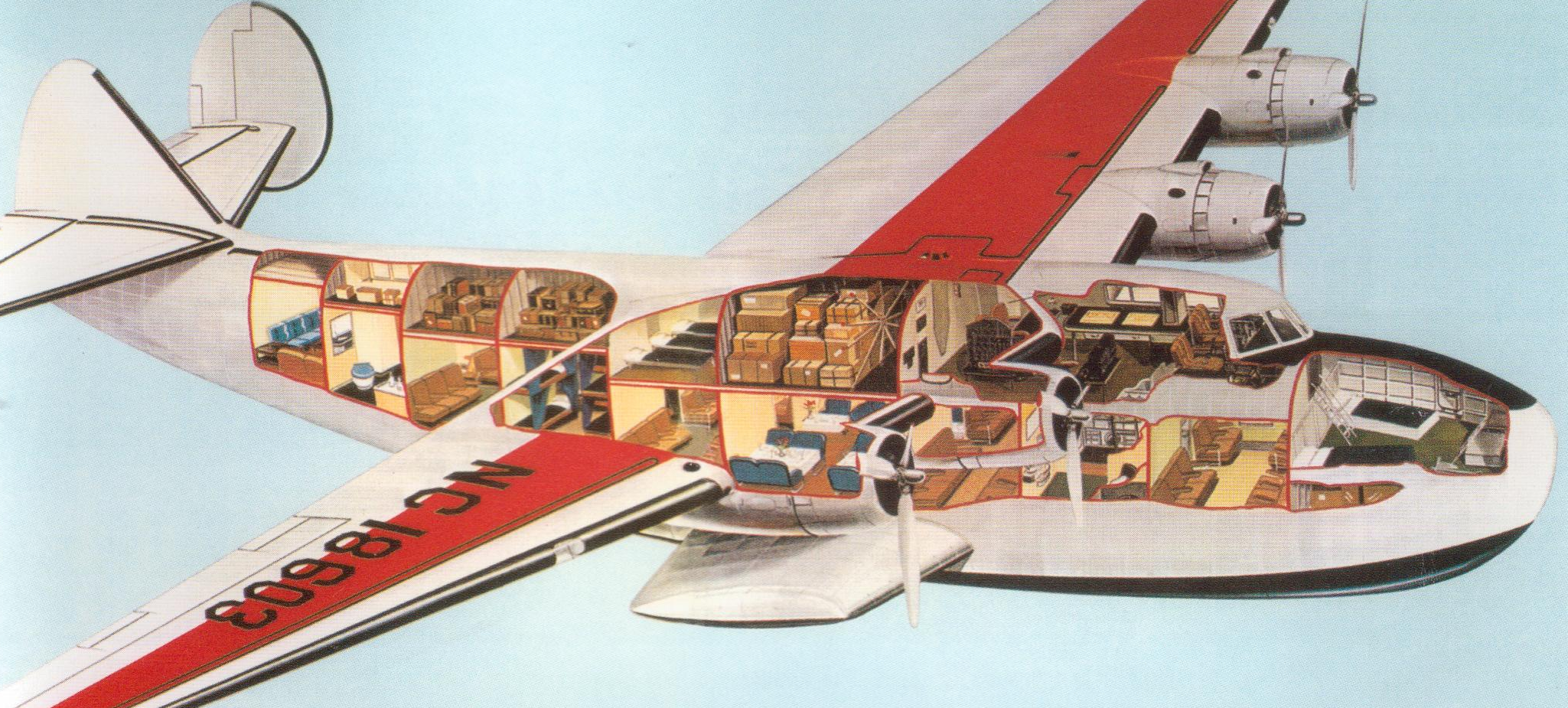 PanAm Yankee Clipper Cutaway Drawing