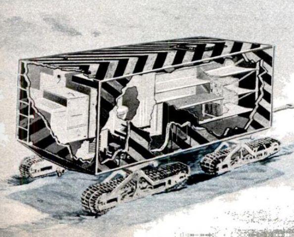 Arctic Wanigan Cutaway 1950
