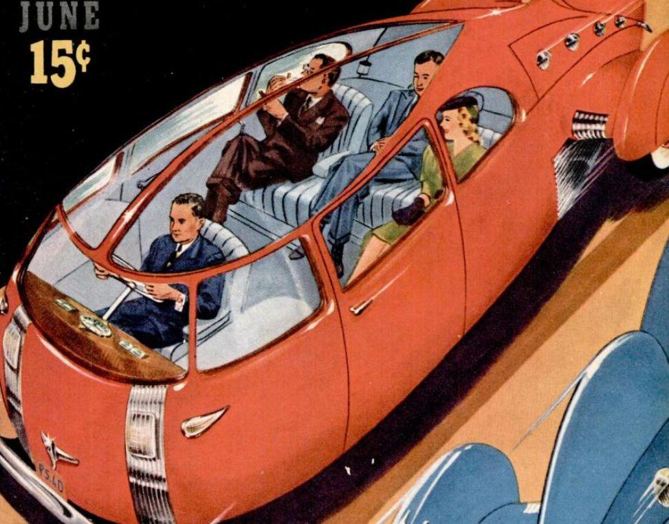 Futuristic Aerial Bomb Car 1940