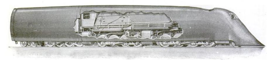 Old vs. New Locomotive Cutaway, 1920