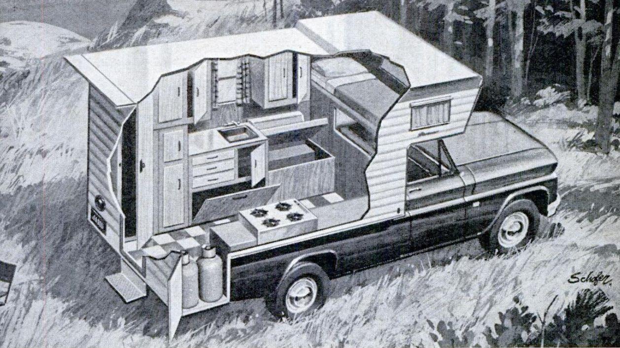 Pickup Truck Camper Cutaway 1967