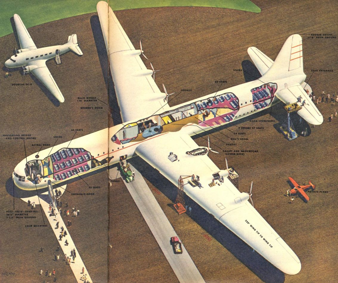 Consolidated Vultee Clipper For PanAm Cutaway, 1945