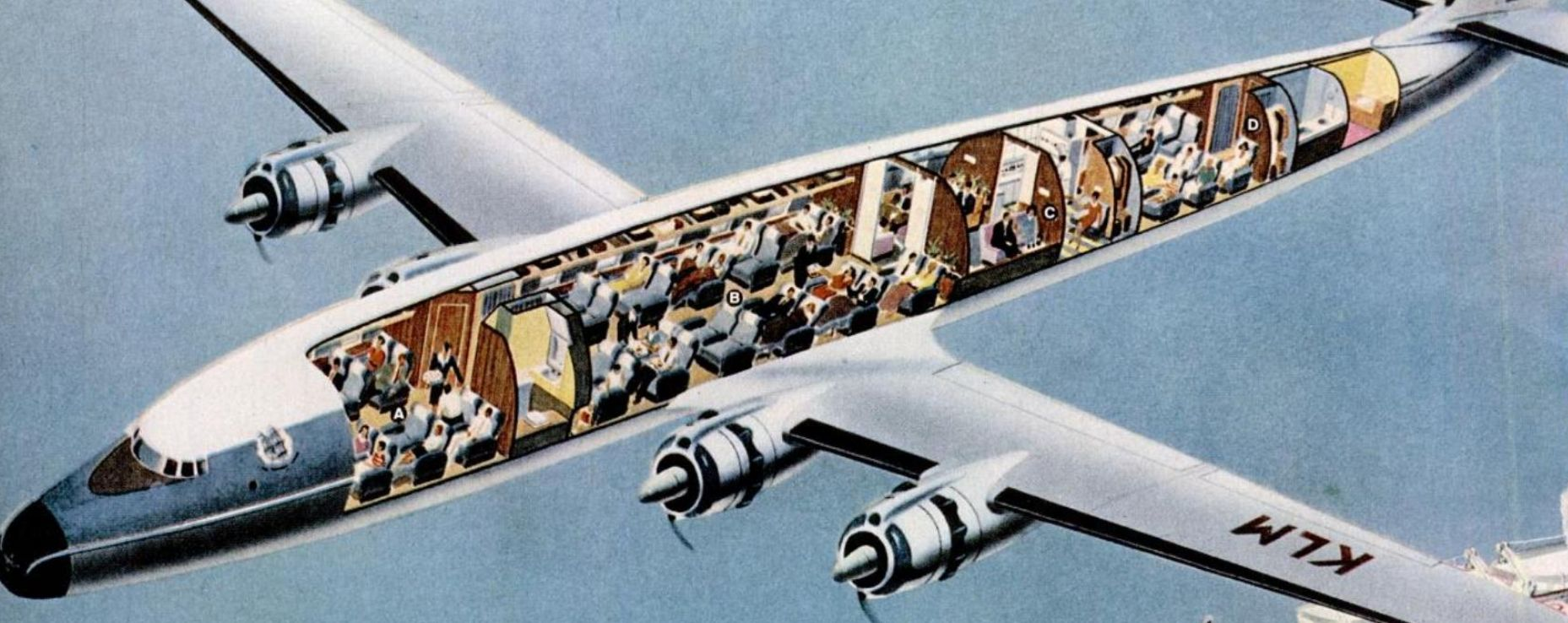 Super-G Constellation Cutaway, 1955