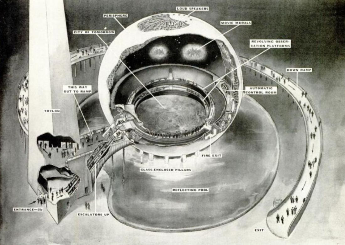New York World's Fair 1939 Perisphere Cutaway
