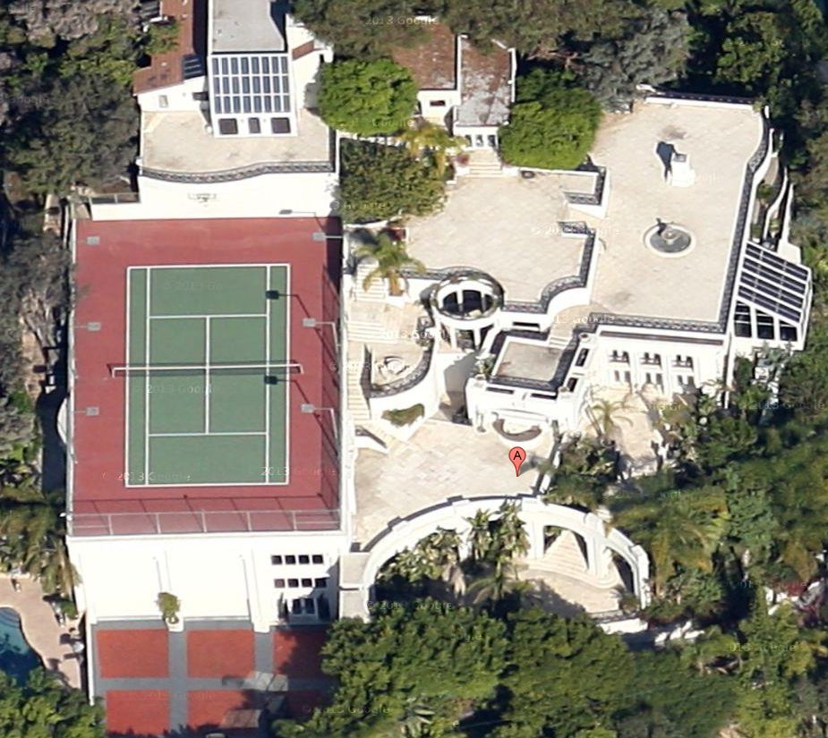 1235 Sierra Alta Way West Hollywood CA Satellite View 2013
