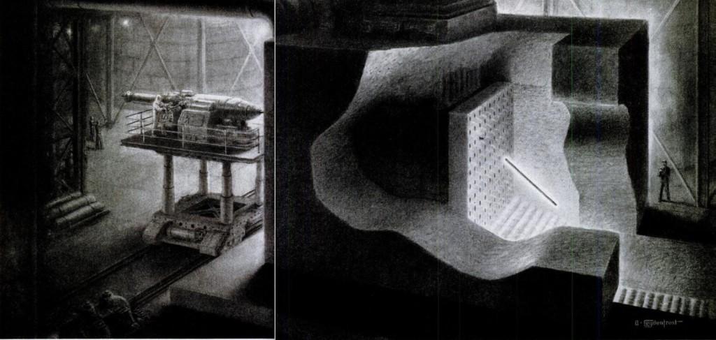 Atomic Pile Cutaway 1950