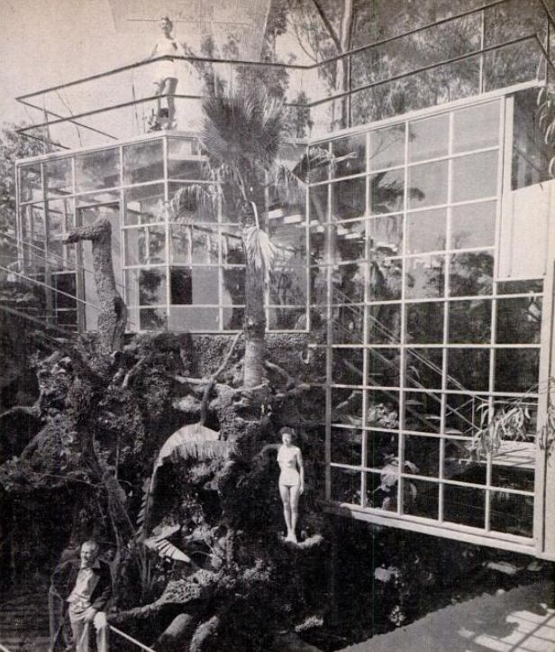 Hal B Hayes House Hollywood CA 1953 Exterior Glass Wall