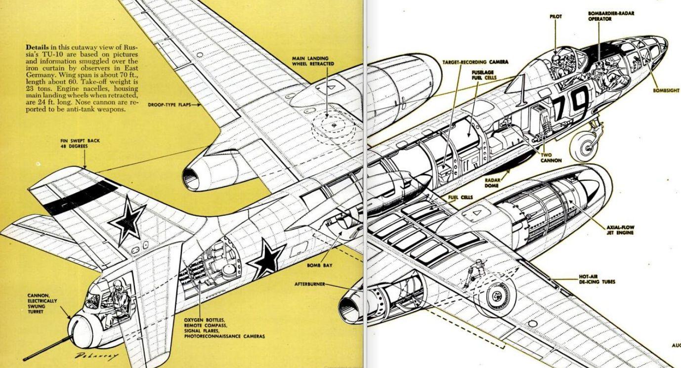 Soviet TU 10 Two Jet Bomber 1951