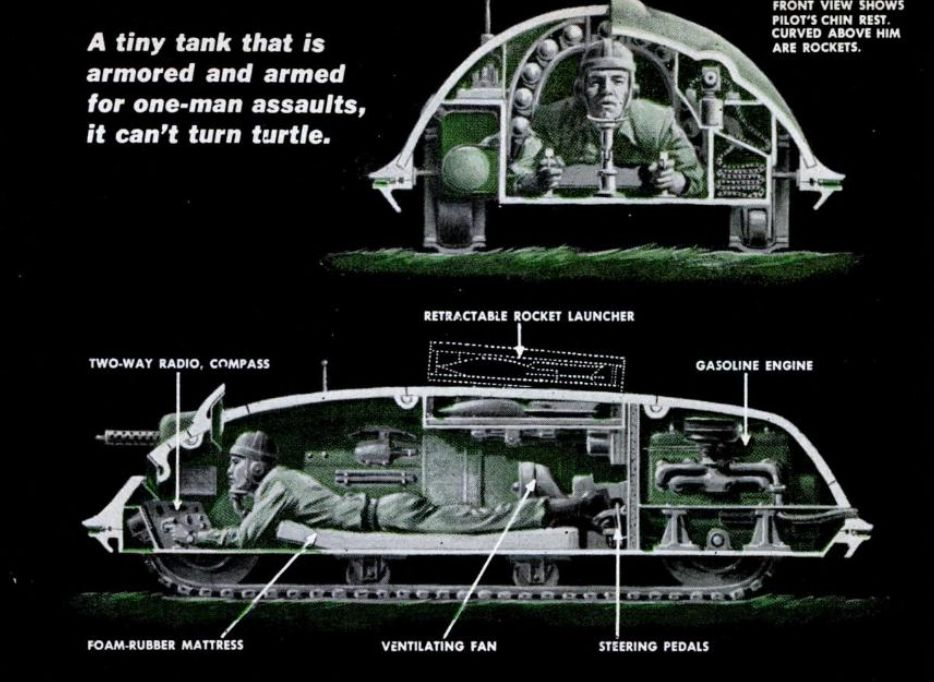 Turtle Personal Tank 1952