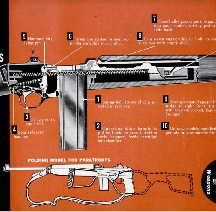 Winchester M1 Carbine Cutaway 1951