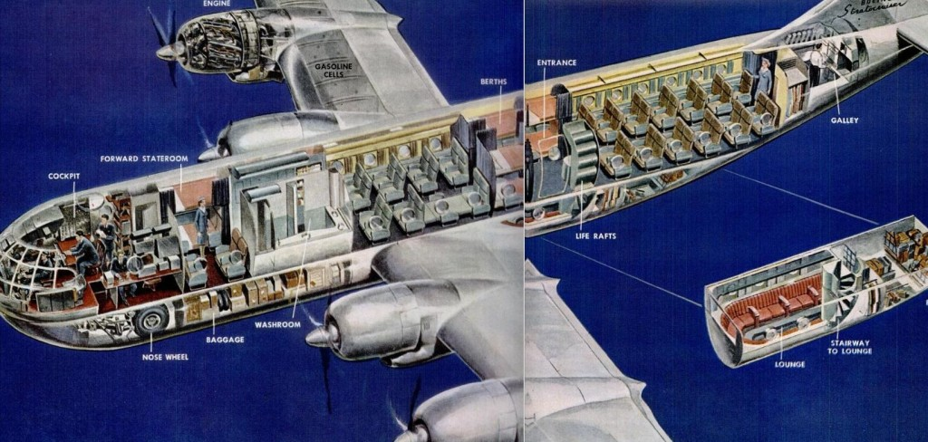 Boeing Stratocruiser Cutaway Drawing 1952
