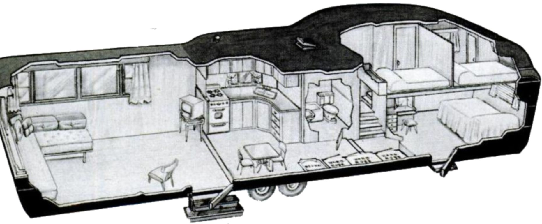 Two Story Travel Trailer 1952 Large Image
