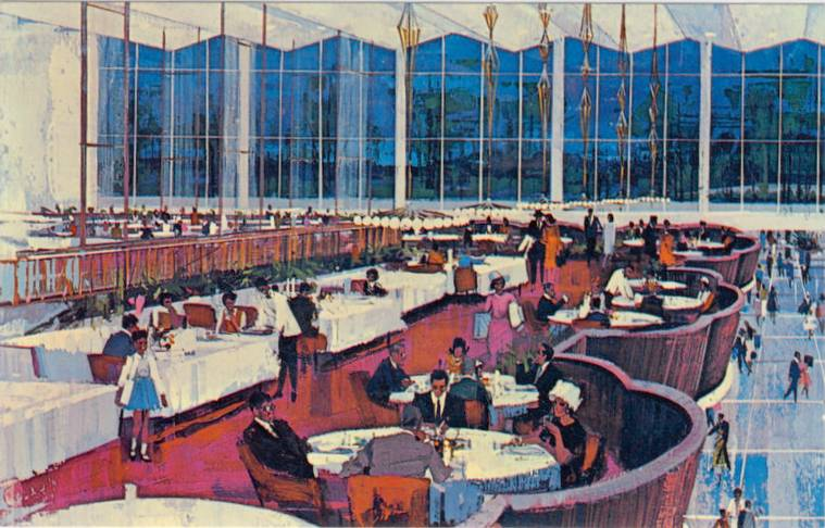 Yorkdale Mall Toronto Vista Restaurant - ca mid 1960s