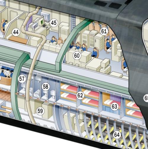 Astute Class Submarine Cutaway - Midships