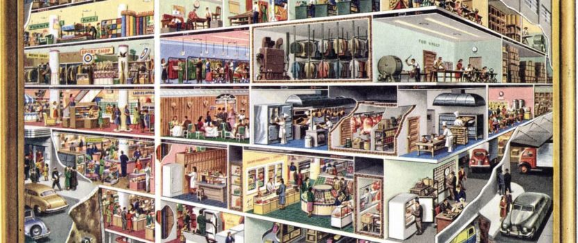 Fantastic Department Store Cutaway, 1950s