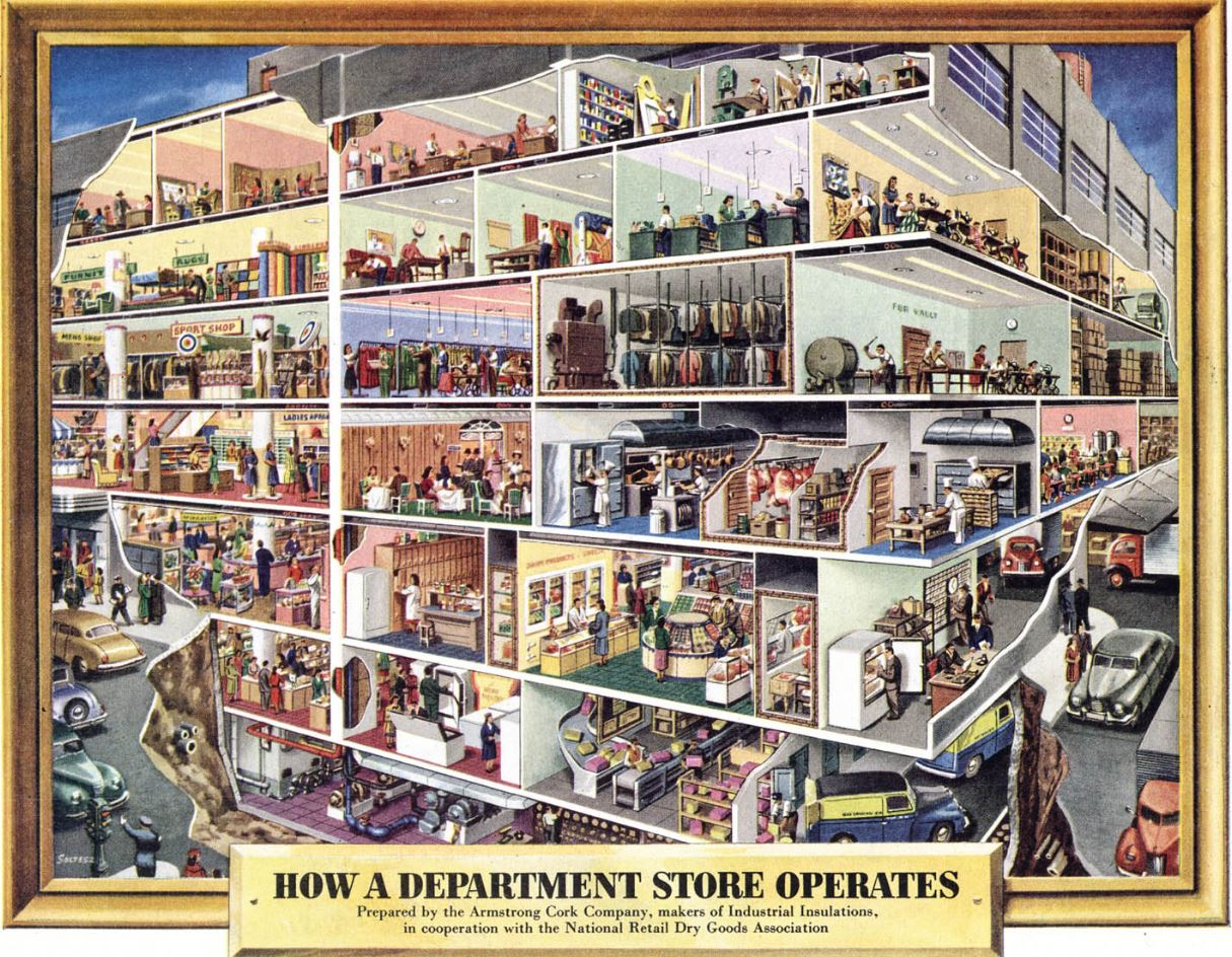 Frank Soltesz Department Store Cutaway