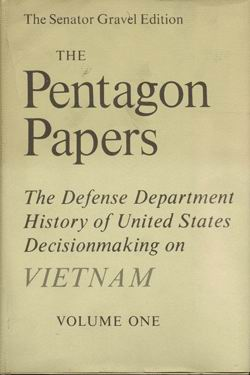 pentagon paper The pentagon papers, officially titled report of the office of the secretary of defense vietnam task force, was commissioned by secretary of defense robert.