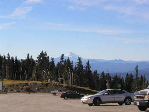 Timberline Lodge Parking Lot