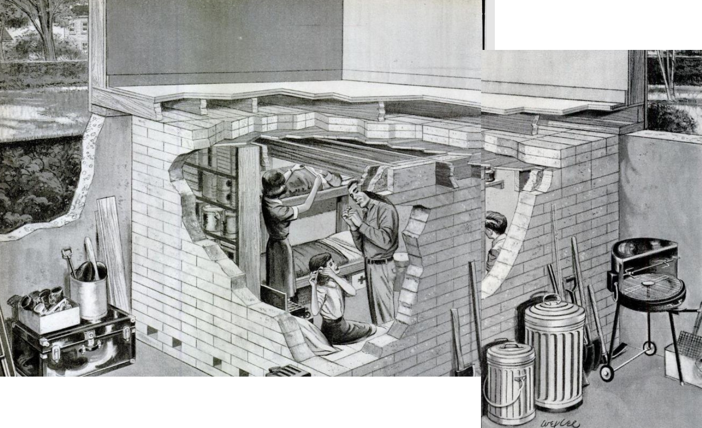 Basement In Your Bug Out Shelter : Invisible themepark nuclear bomb fallout shelters