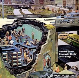Invisible Themepark Community Bomb Shelter Under Bridge