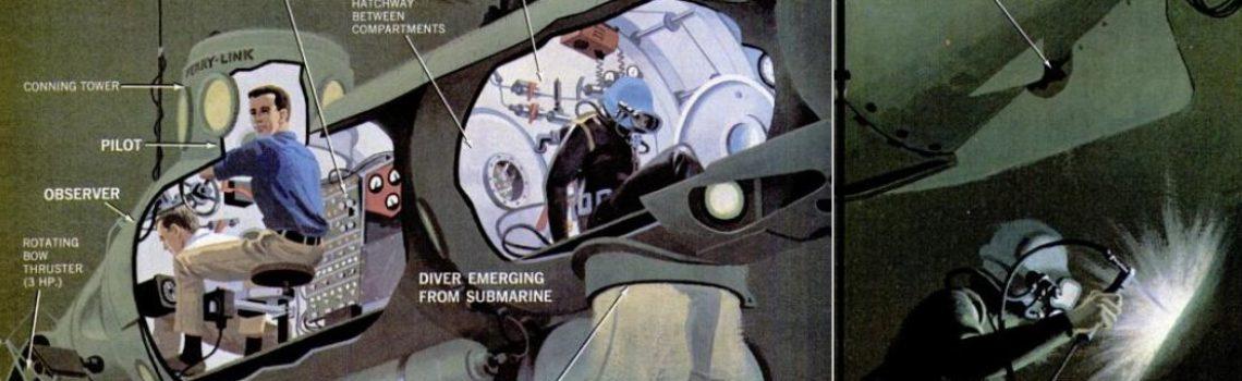 "Deep Diver ""Ferry"" Submarine Cutaway, 1967"
