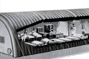 Inflatable Vietnam War-Era Quonset Hut Cutaway, 1967