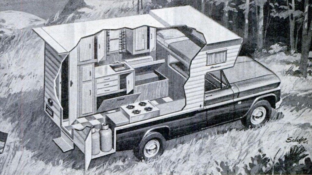 Invisible Themepark Pickup Truck Camper Cutaway 1967
