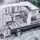 Pickup Truck Camper Cutaway, 1967