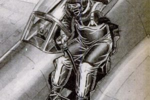 WWII Fighter Plane Cutaway Showing Gravity Suit, 1945