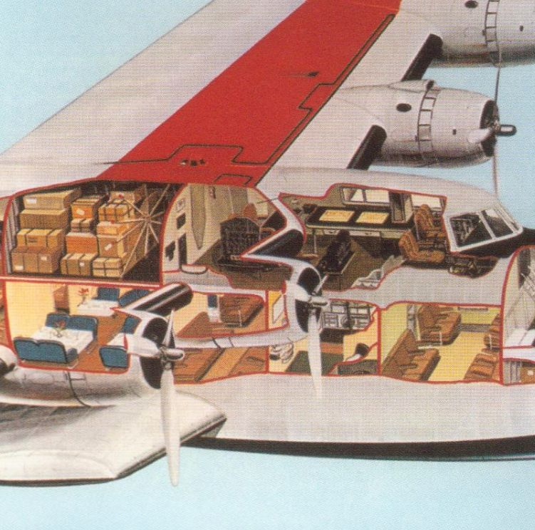 PanAm Yankee Clipper Cutaway Drawing, ca 1930s