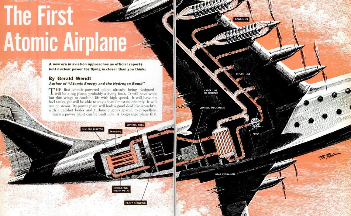 Atomic Airplane Cutaway 1951