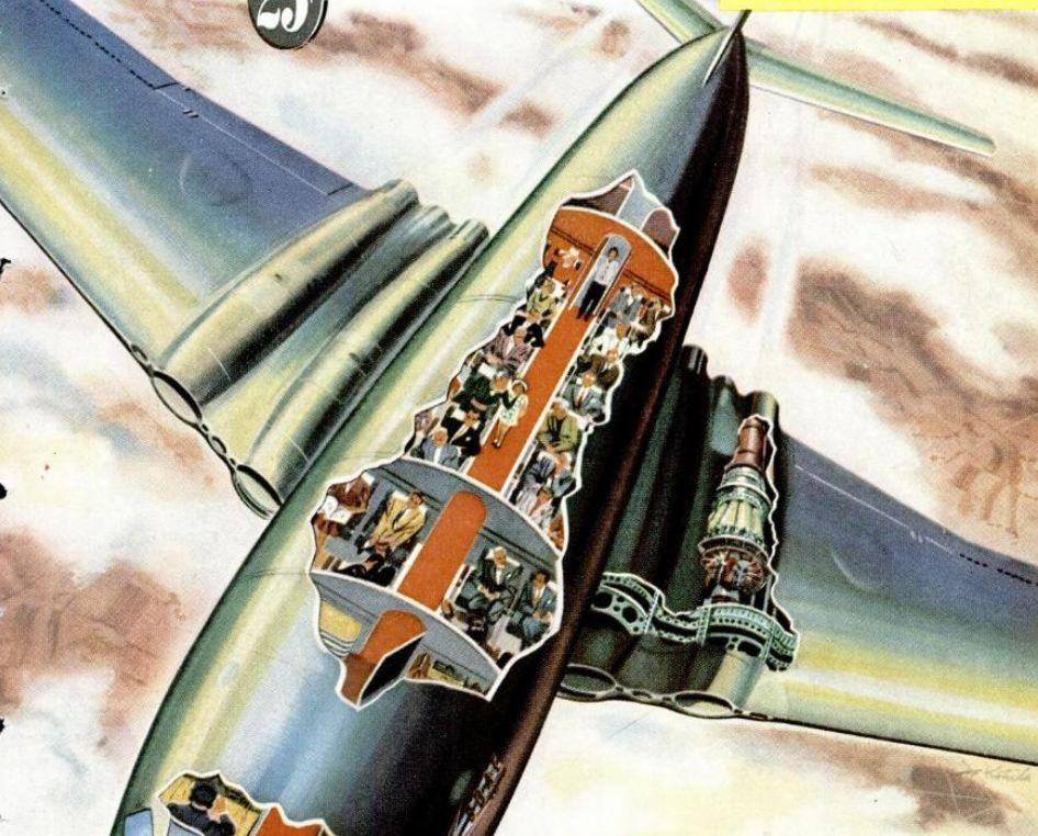Comet Airliner Cutaway 1950