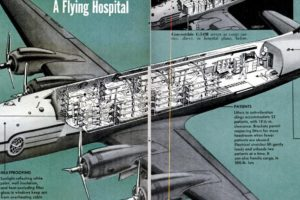 """Douglas Skymaster C-54M """"Flying Hospital"""" Cutaway, 1951"""