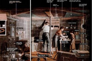 """Home Nuclear Bomb Shelter """"Foxhole"""" 1951"""