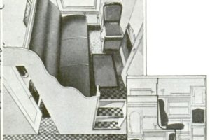 Two Story Duplex Pullman Rail Car Cutaway, 1932