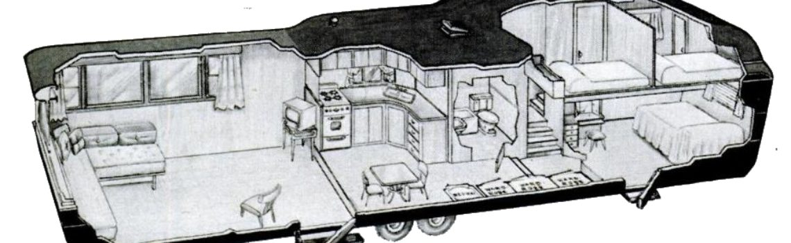 cartoon house trailer two story trailer cutway 1952 invisible themepark