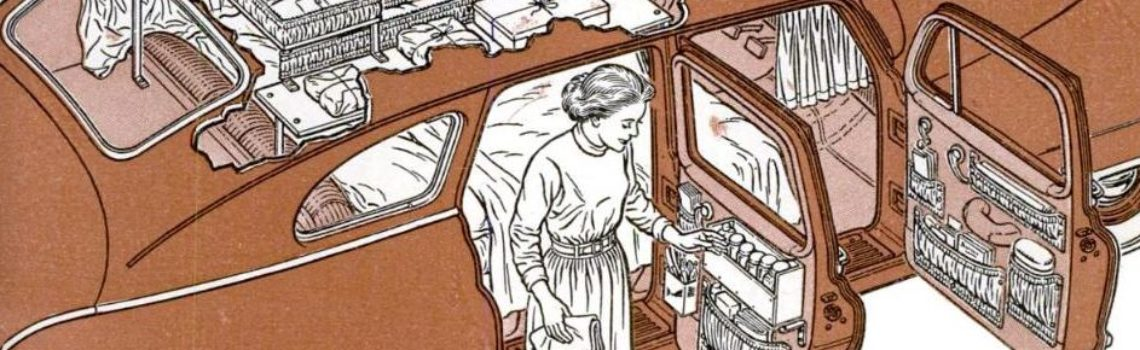 Camper Built Inside a Car, 1952