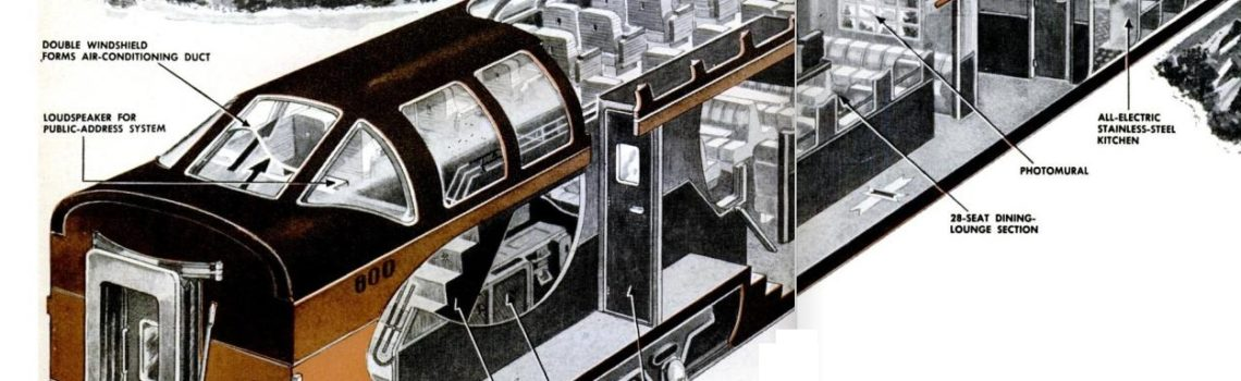 Super Dome Train Car Cutaway, 1952