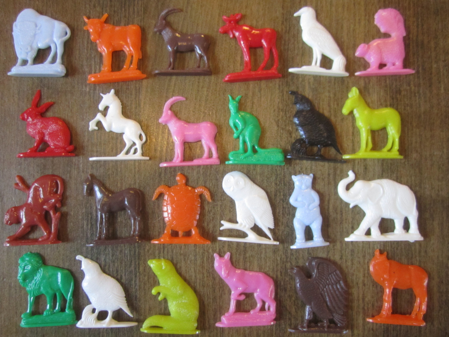 Cracker Jack Prizes Plastic Animals 1960s