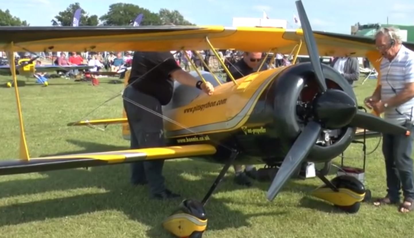Giant 85 Percent Scale RC Biplane