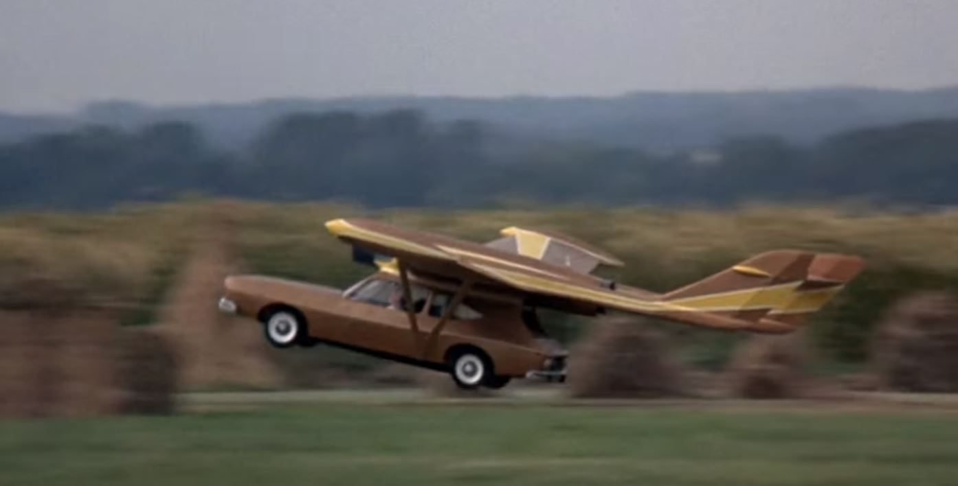 Man With the Golden Gun Flying Car - Model