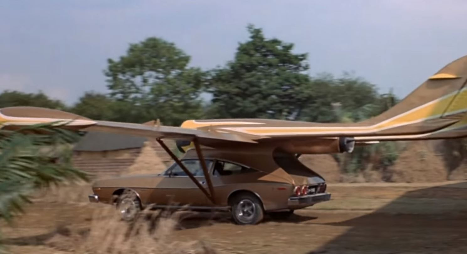 Man With the Golden Gun Flying Car - Real