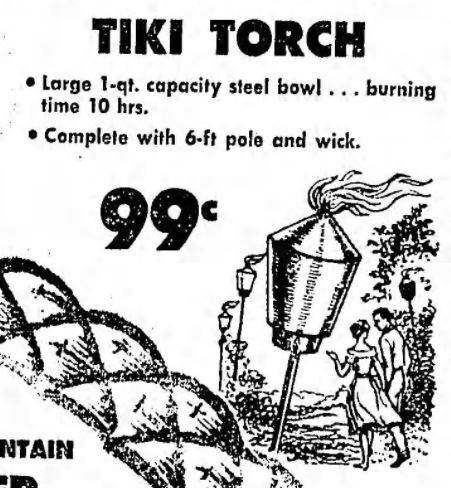 Tiki Torch Ad LA Times July 2 1961