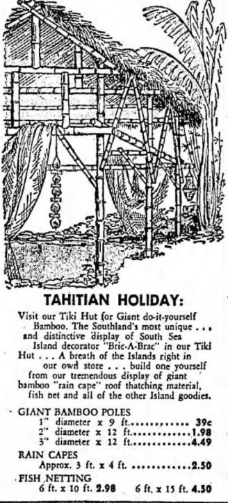 Vintage Bamboo Tiki Hut