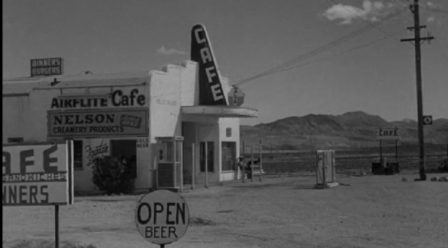 """The Real-Life Airflite Cafe from Twilight Zone's """"100 Yards Over the Rim"""""""