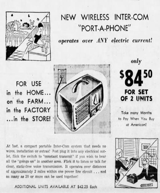 Intercom Ad, 1955