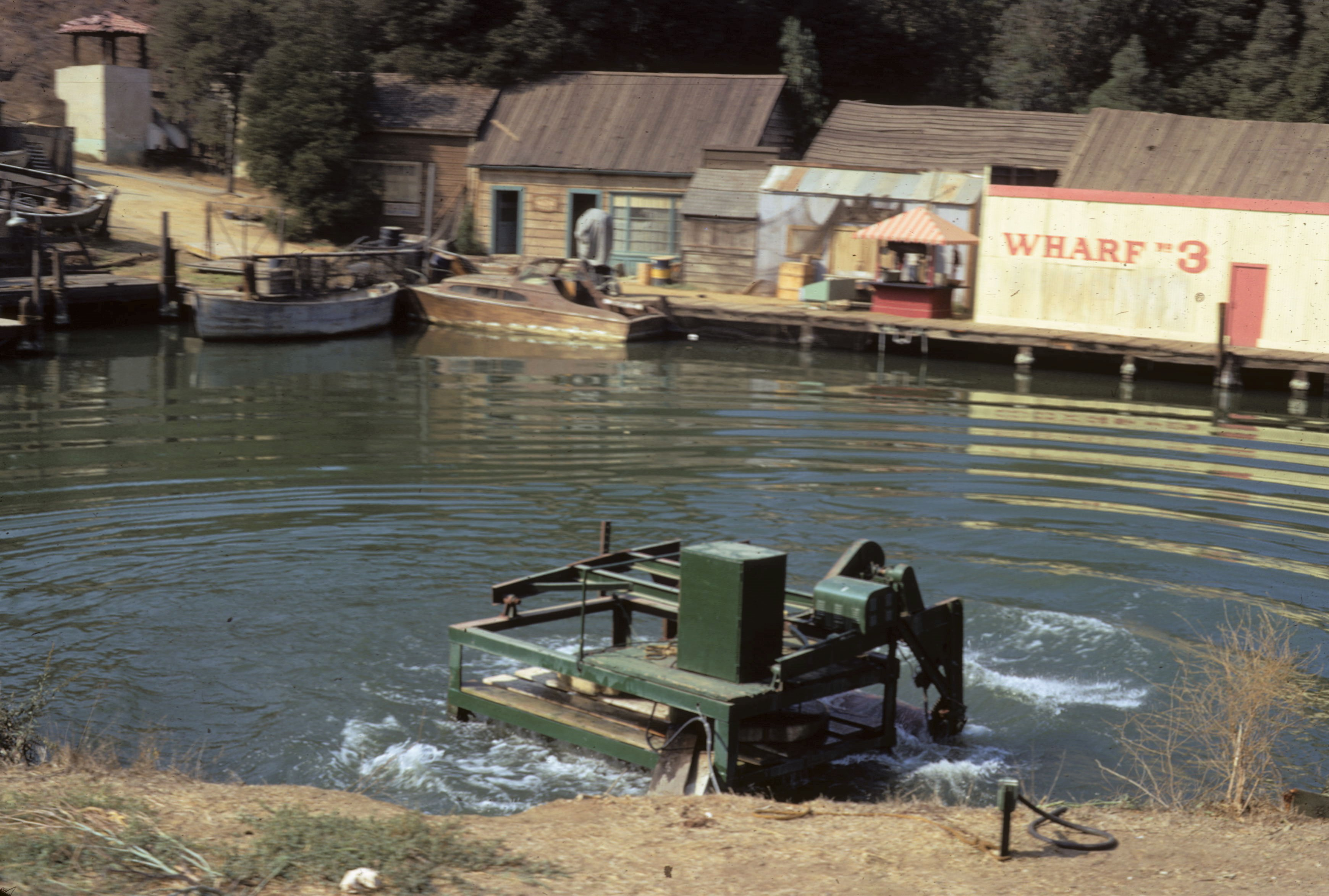 Universal Studios 1972 - Exterior Sea Port with Wave Making Machine