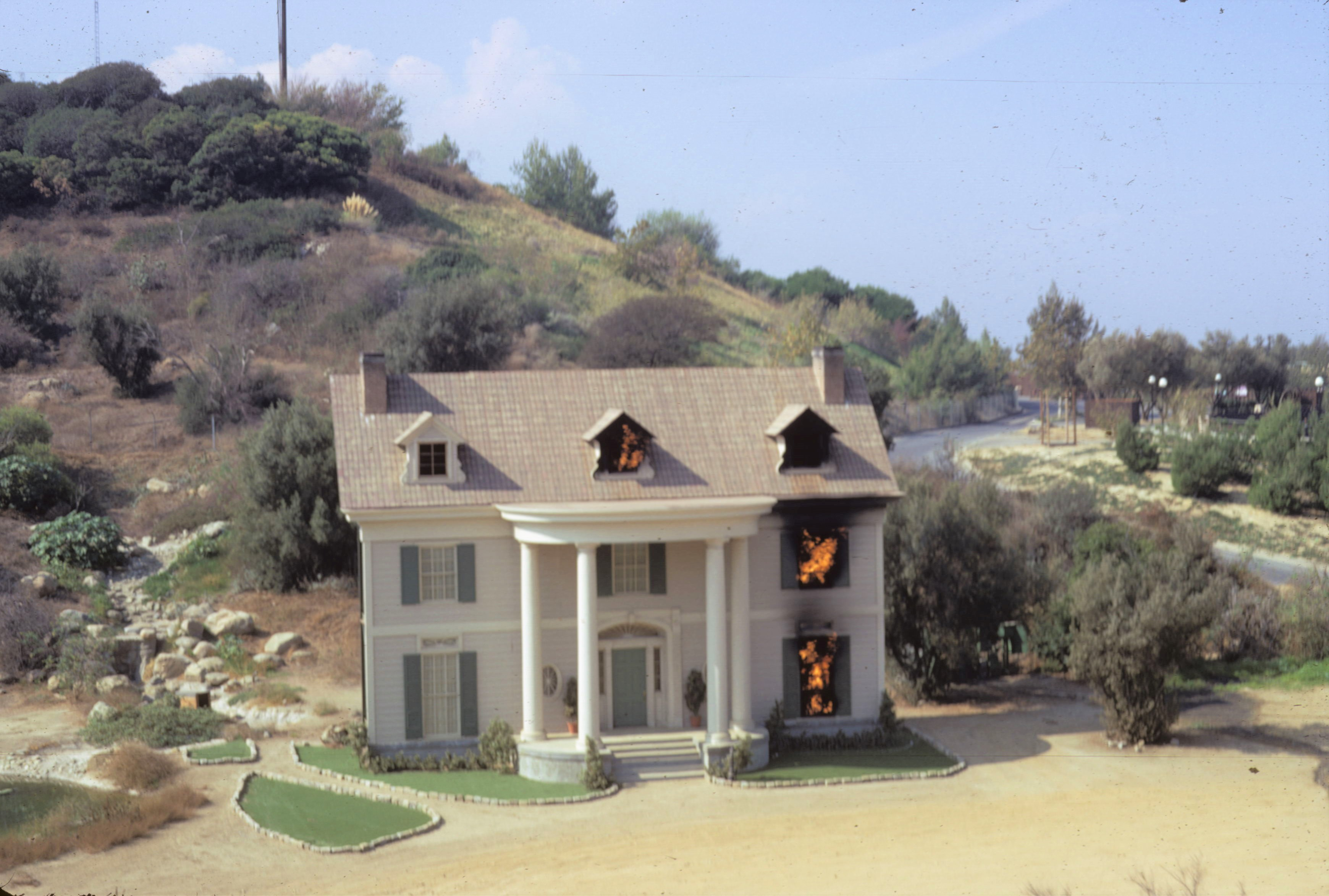 Universal Studios 1972 - House on Fire Exterior Set