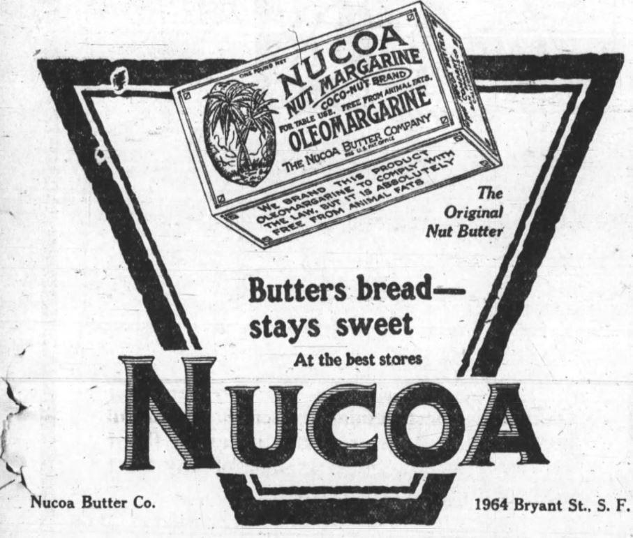 Nucoa Advertisement 1919