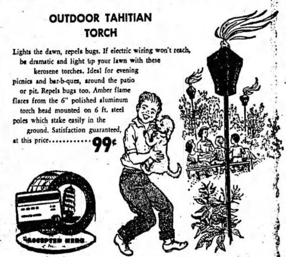 Tiki Torch 1960